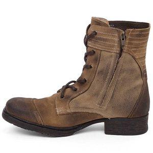 Bed Stu Men's Brown Warren Combat Boots 9.5